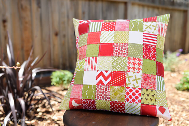 Quilted Patchwork Pillow by Let's Eat Grandpa