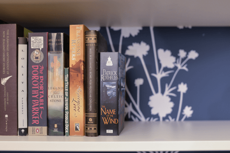 Turn a run-of-the-mill IKEA bookshelf into something spectacular with Wallternatives decals!
