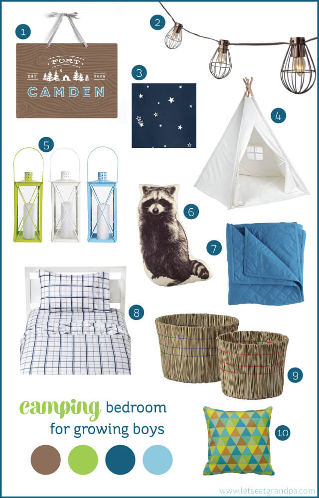 Camping bedroom inspiration for growing boys