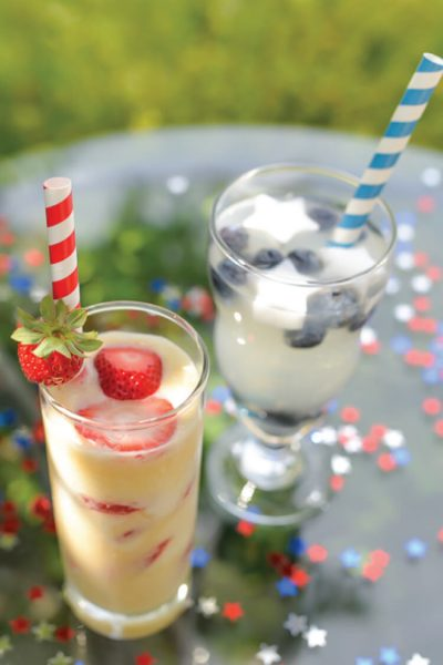 Patriotic Stars and Stripes Summer Drinks!