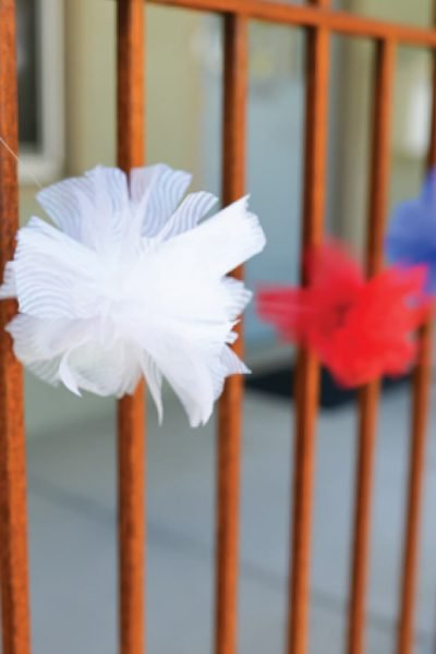 Fourth of July Tulle Fireworks Tutorial