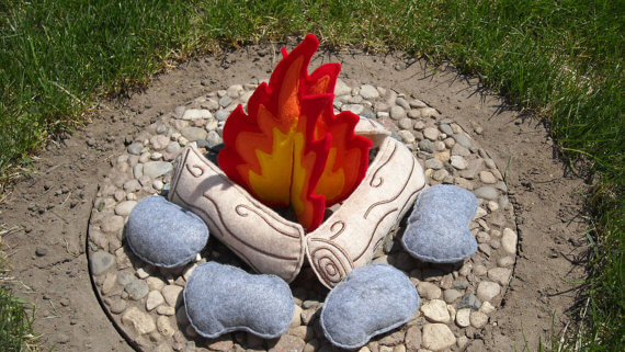 felt campfire set