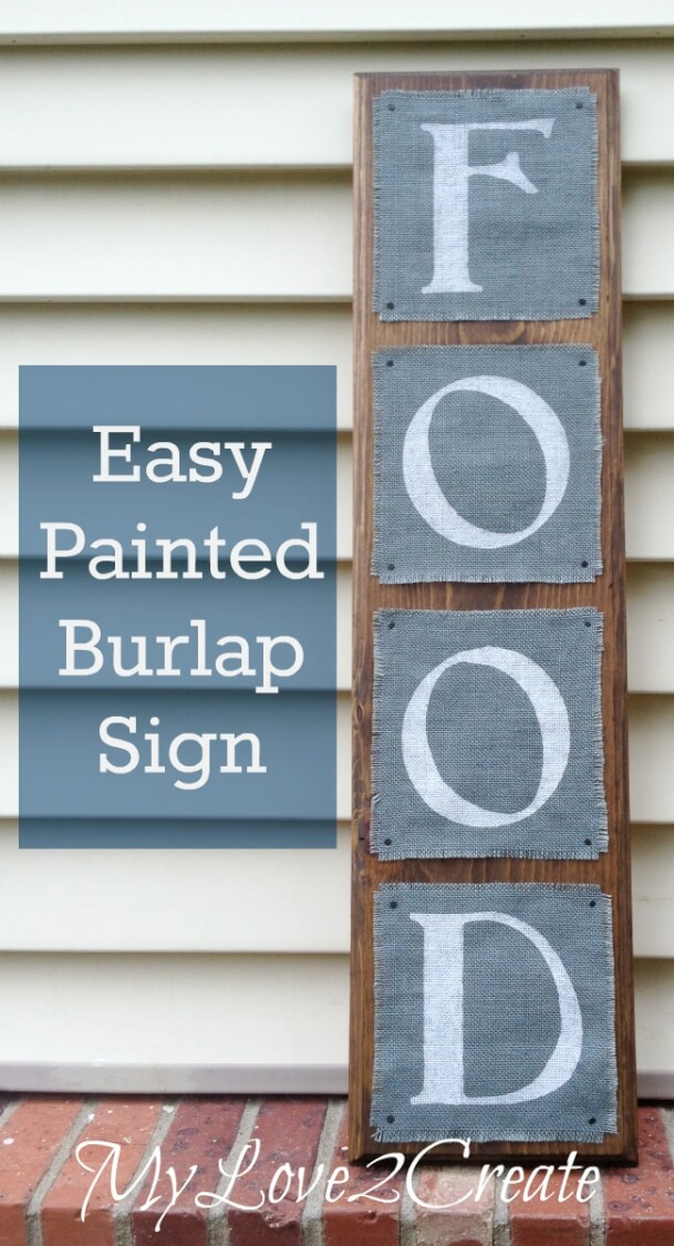 Easy Painted Burlap Sign