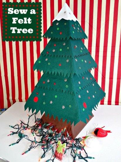 Felt Christmas Tree from So Sew Easy