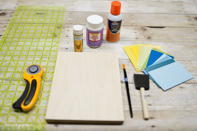 Make this easy artwork using a few simple supplies and a handful of paint chips!