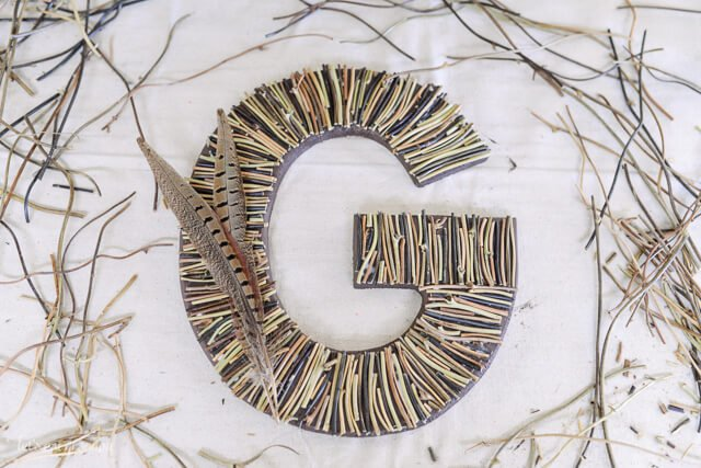 Craft Lightning - Camping-Inspired DIY Decorative Initial by @letseatgrandpa