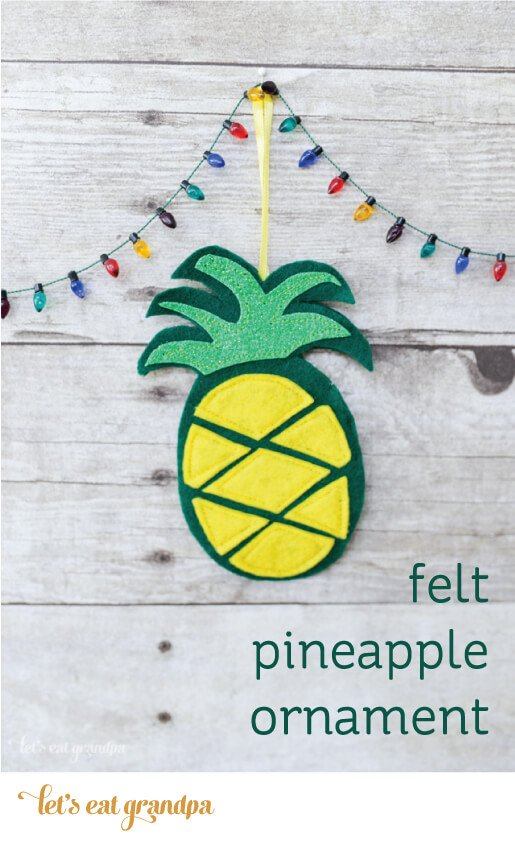 The pineapple is the symbol of welcome and hospitality. Make this easy pineapple ornament to welcome friends and family into your home!