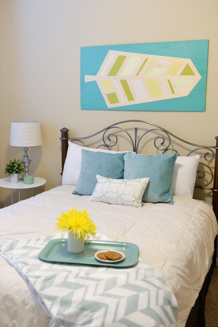 diy bedroom makeover. Our budget bedroom makeover was a combination of DIY projects  thrifting and savvy shopping Guest Bedroom Makeover for Just 200 Hey Let s Make Stuff