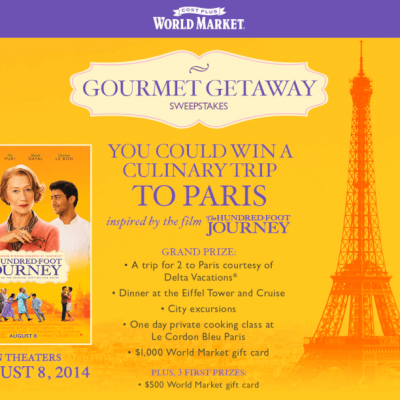 The Hundred Foot Journey and a Gourmet Getaway!
