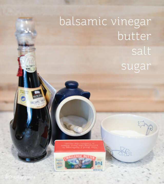 Balsamic Vinegar Reduction with Vanilla Ice Cream by @letseatgrandpa