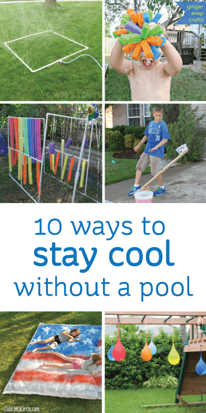 10 Ways to Stay Cool without a Pool