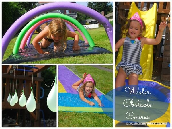 Water Obstacle Course by Meaningful Mama