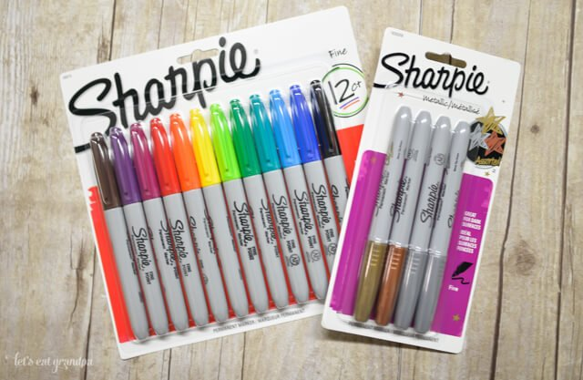 two packs of sharpies - colorful pack and grays pack