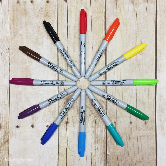 colorful sharpies arranged in a circle