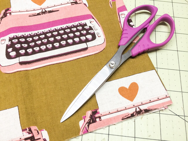 serrated scissors and paper - favorite sewing tools