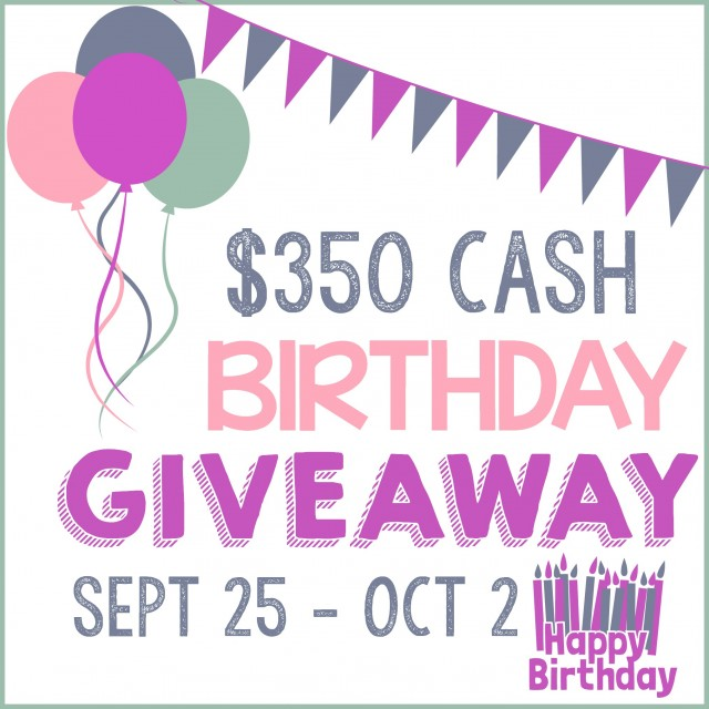 Win $350 CASH for Play Party Pin's Birthday Giveaway!