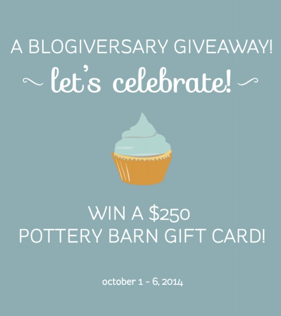 Win a $250 Gift Card to Pottery Barn (also West Elm and William Sonoma!) www.letseatgrandpa.com