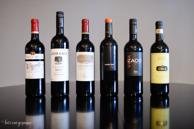6 red wines for wine party