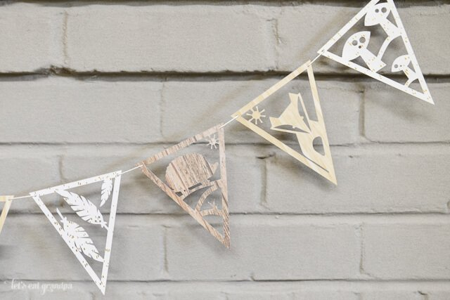 DIY paper banner with adorable woodland creatures