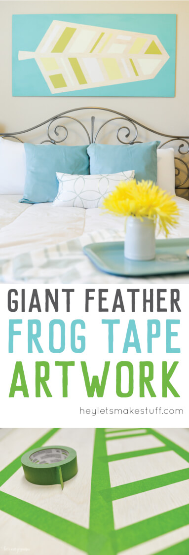 It's easy to make DIY modern art using Frog Tape! A great way to create art for a large wall in your home.