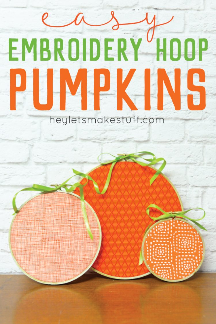 embroidery hoop pumpkin pin image