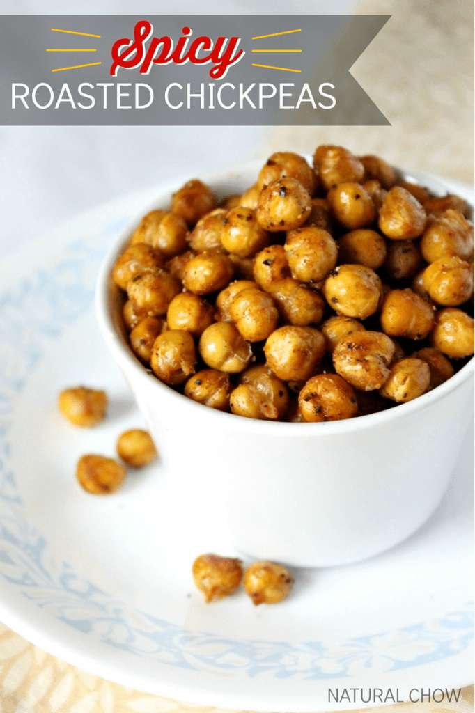 Spicy Roasted Chickpeas from Natural Chow