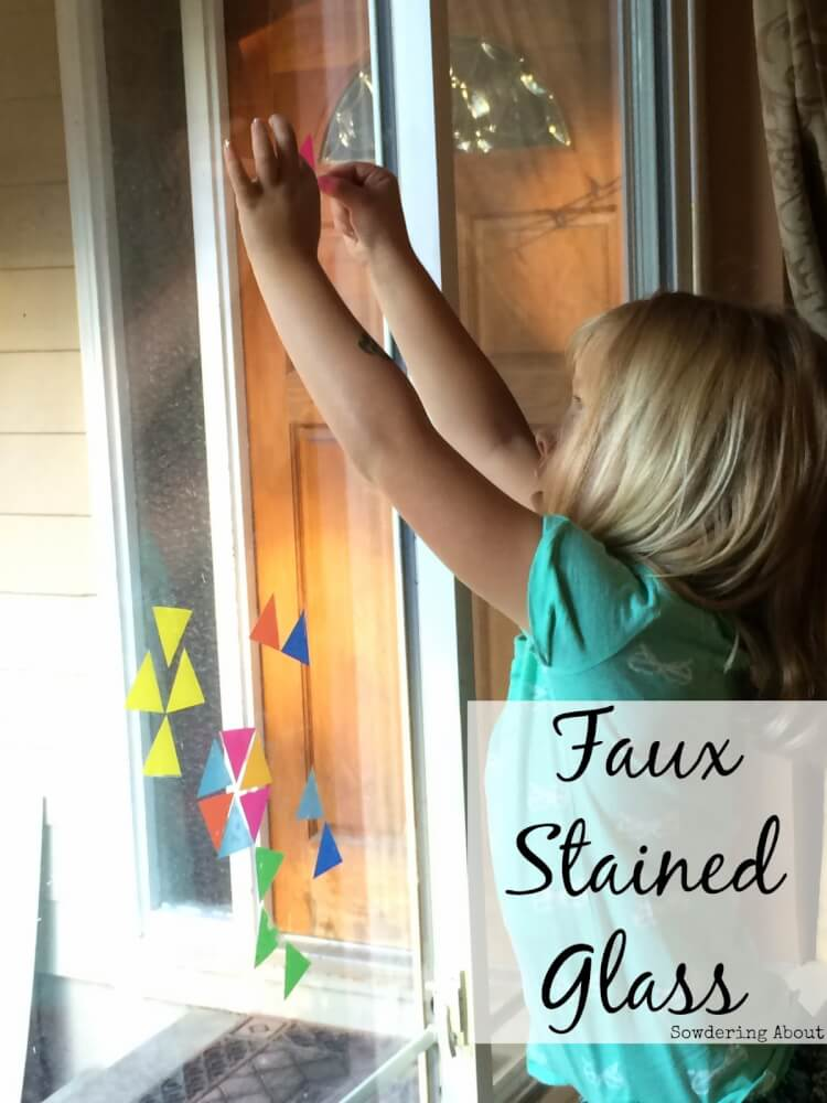 Faux Stained Glass Window Stickers