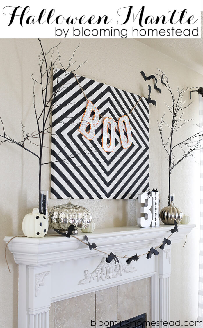 Halloween Mantel from the Blooming Homestead