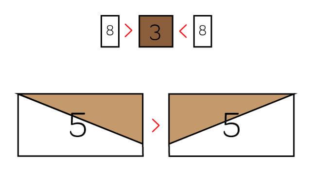 computer graphic showing acorn quilt block pieces