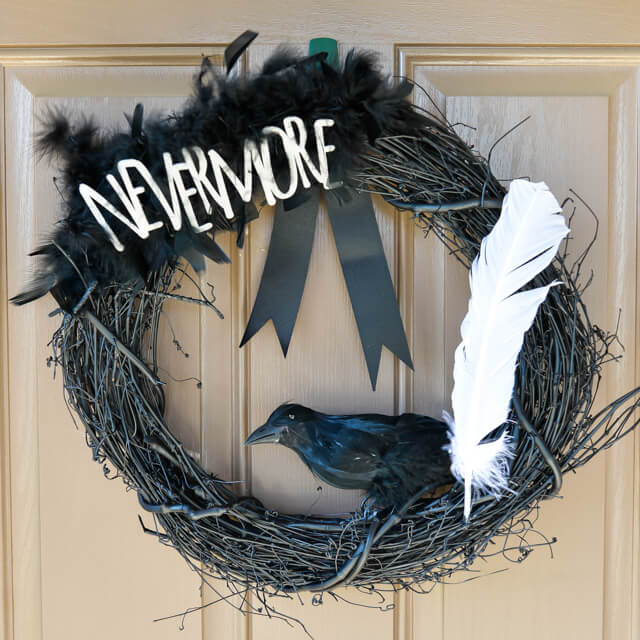 Edgar Allan Poe: Nevermore Wreath for #Halloween