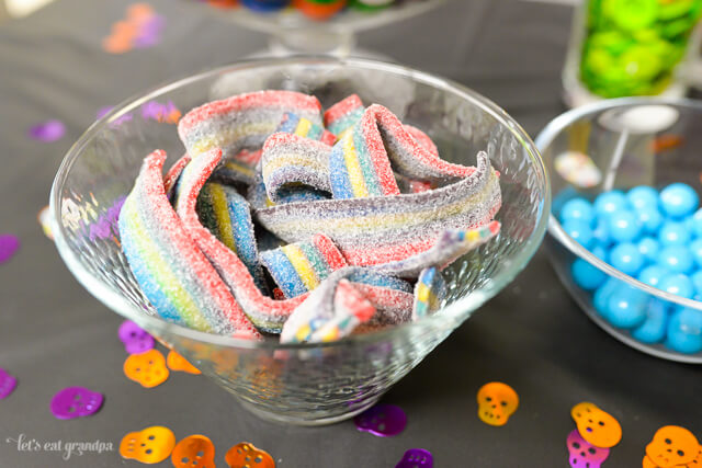 sour belts in candy bowl