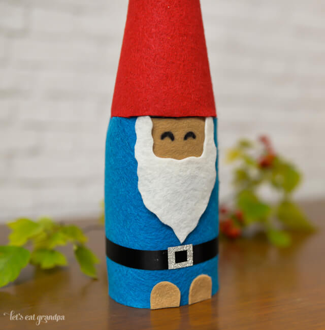 finished Christmas gnome craft
