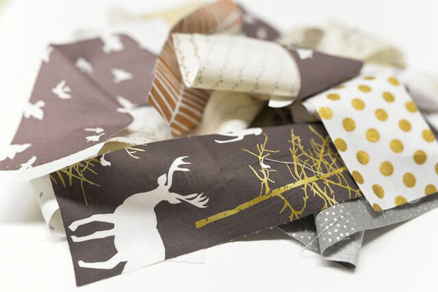 Use your fabric scraps to whip up a fun fabric garland! Can also be used to tie up your pretty holiday packages. Beginner level project.