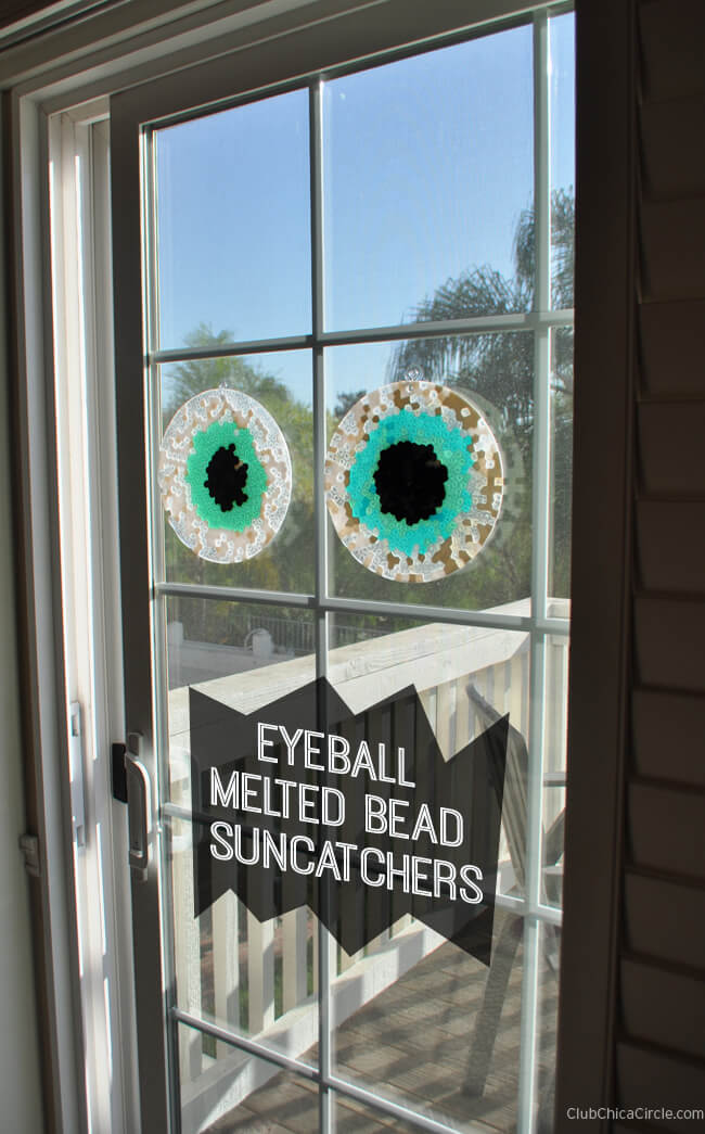 Eyeball Melted Bead Suncatchers from Chica Circle