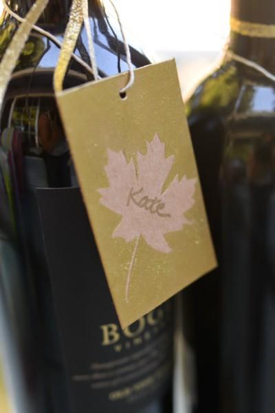 Easy Fall Leaf Hostess Gift Tags