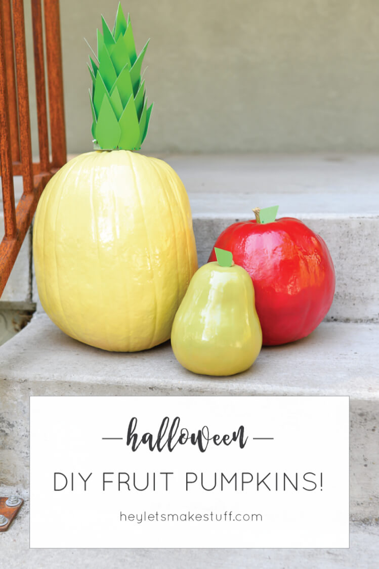 Dress up your pumpkins for Halloween with this easy fun project -- painting them to look like fruit!