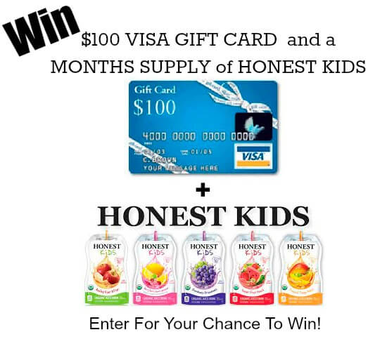Win a $100 Visa Gift Card and a Month's Supply of Honest Kids Juice