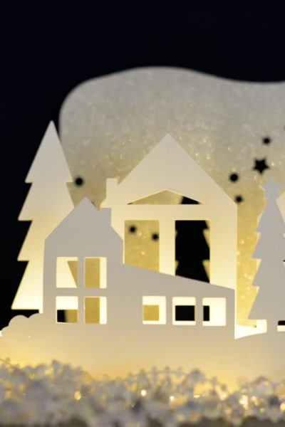 Winter Wonderland Luminaria – Free SVG Cut Files