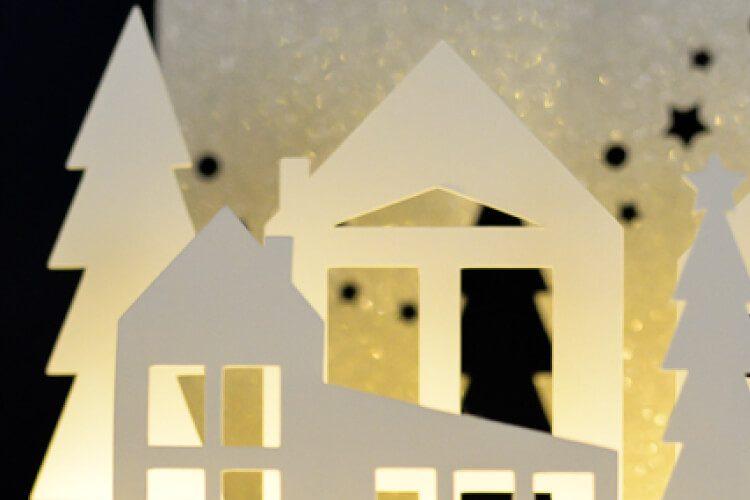 Winter Wonderland Luminaria – Free SVG Cut Files