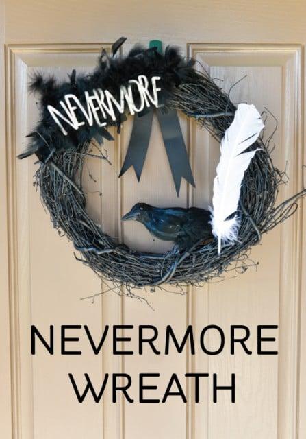 Edgar Allan Poe: Nevermore Wreath for #Halloween