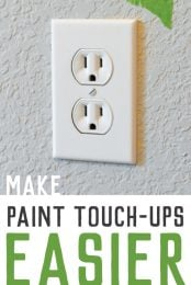 Make paint touch-ups a lot easier with this simple trick!