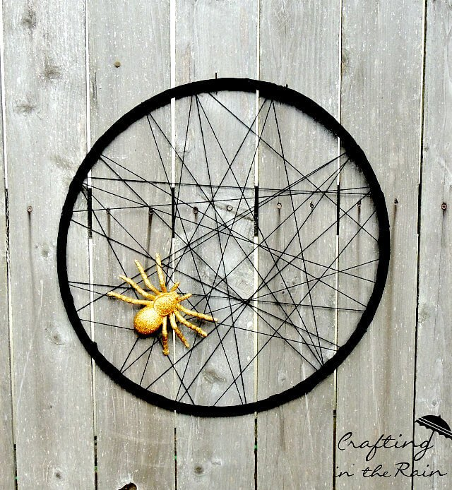 Glitter Spider Web Hula Hoop from Crafting in the Rain