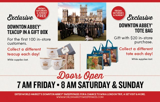 Get exclusive Downton Abbey gifts at Cost Plus World Market! #DowntonAbbey #BlackFriday @WorldMarket