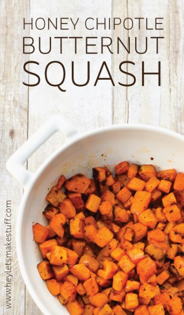 Need an easy Thanksgiving side dish? This roasted honey chipotle butternut squash is the perfect addition to your holiday menu!