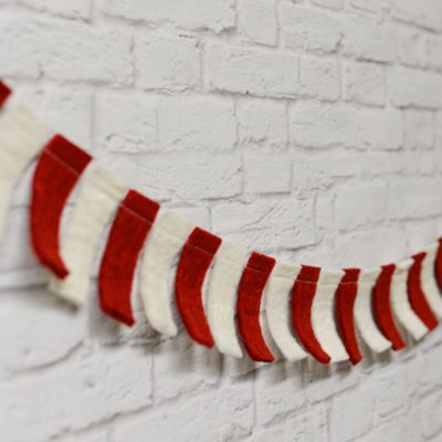 15-Minute Felt Candy Cane Garland