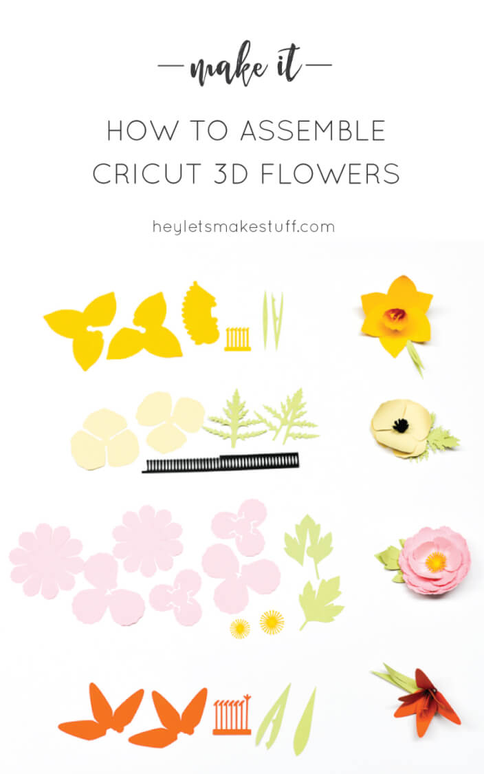 How To Make Cricut 3d Flowers Daffodil Tiger Lily Poppy