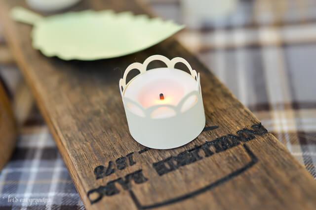 votive candle as table decor