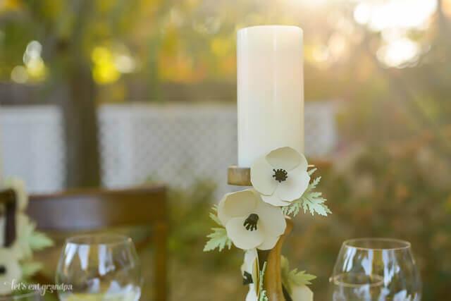decorative candle pillar