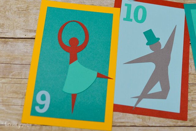Using your #CricutExplore, cut these fun 12 Days of Christmas cards -- perfect for gift tags, a Christmas countdown, or pennants!