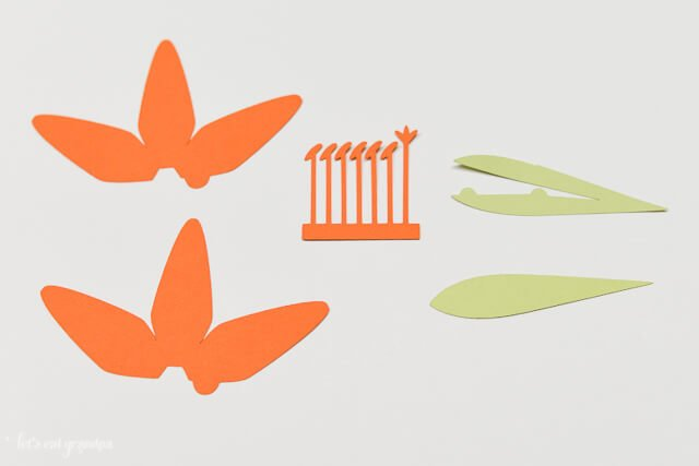 How to Assemble the Cricut Tiger Lily - Cut Out Pieces
